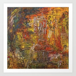 way of the dreamers (painting to music) Art Print