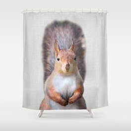 Squirrel - Colorful Shower Curtain