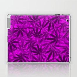 Marijuana leaves (purple) Laptop & iPad Skin