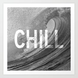 Chill Waves Art Print
