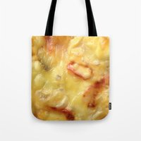 pizza Tote Bags featuring Pizza by Fine2art