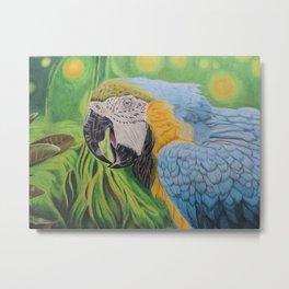 Macaw in the Jungle Metal Print