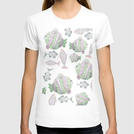 Fish Pattern T-shirt