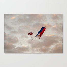 Skydiver with Philippine Flag Canvas Print