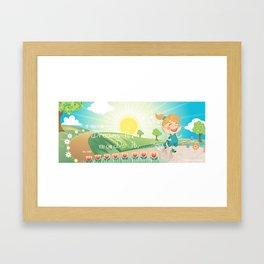 Jogger Framed Art Print