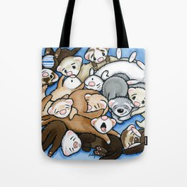 Wall to Wall Weasels Tote Bag