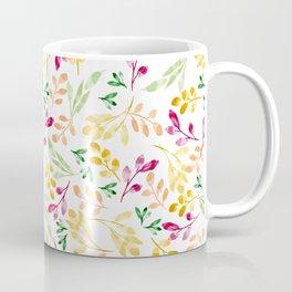 Fall Watercolor Leaves Coffee Mug