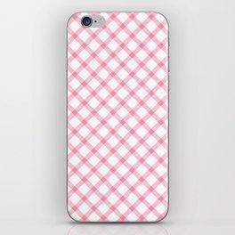 Pink and White Tartan iPhone Skin