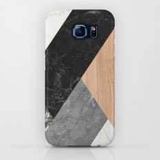 Marble and Wood Abstract Slim Case Galaxy S6