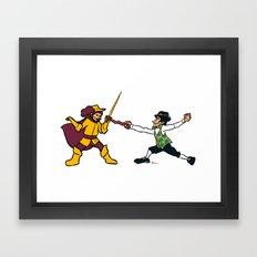Cavaliers vs Celtics Framed Art Print