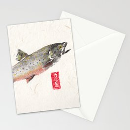 Brook Trout in Spawning colors-Gyotaku Stationery Cards