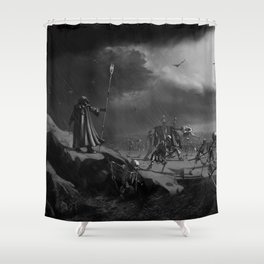 March of the Necromancer Shower Curtain