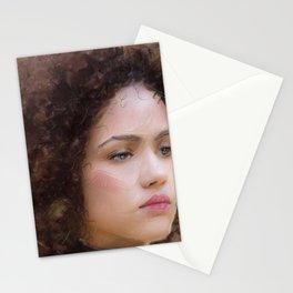 Portrait of Nathalie Emmanuel Stationery Cards