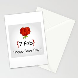 Happy Rose day february 7th- valentine month gifts for lovers Stationery Cards