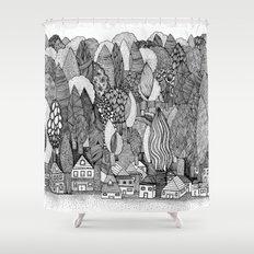 Mysterious Village Shower Curtain