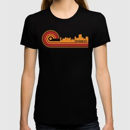 Retro Style Jefferson City Missouri Skyline T-shirt