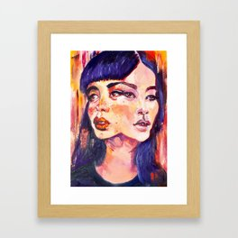Conjoined heads Framed Art Print