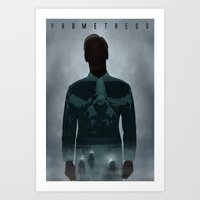 prometheus Art Prints featuring Prometheus by Luke Eckstein