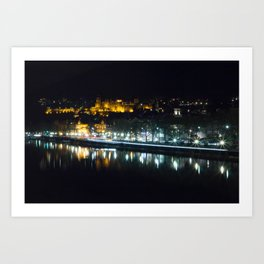 Heidelberg Castle at night Art Print