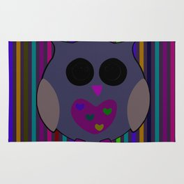 owl/colorful/bright/ Rug