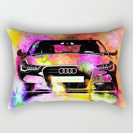 A6 Avant Watercolor Rectangular Pillow