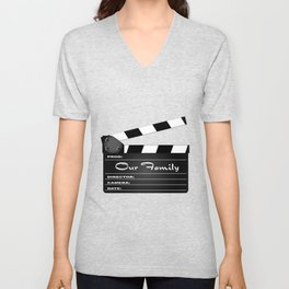 Our Family Clapperboard Unisex V-Neck