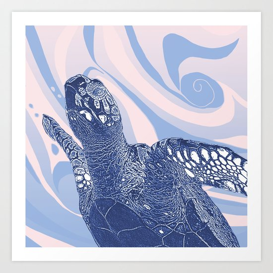 Unique Turtle Design Art Print