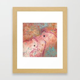 Two Chickens - Bakaark! Framed Art Print