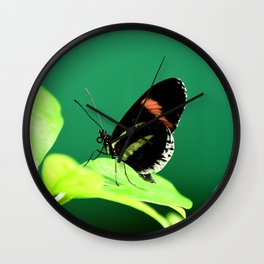 Piano Key Butterfly left facing Wall Clock