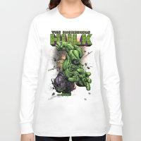 hulk Long Sleeve T-shirts featuring Hulk by WaXaVeJu
