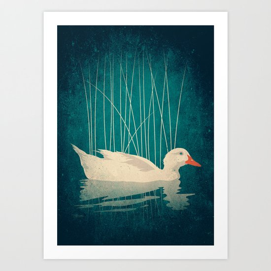 Duck Reflected Art Print