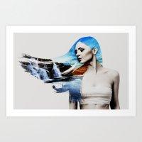 frozen Art Prints featuring Frozen by EclipseLio