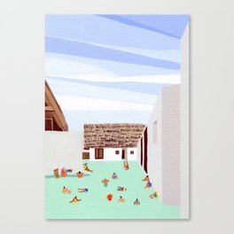 Mexico Pool III Canvas Print