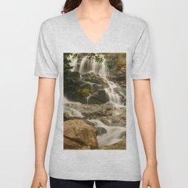 Silky Cascading Waterfall Hong Kong Unisex V-Neck