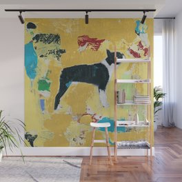 Boston Terrier Painting Art Wall Mural