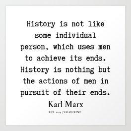 47  | Karl Marx Quotes | 190817 Art Print