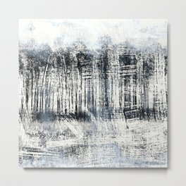 White Winter Abstract Metal Print