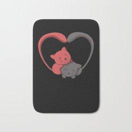 Kitten in Love T-Shirt I furry cat couple Bath Mat