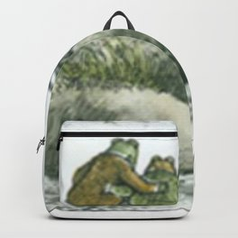 Two friends on a rock Backpack