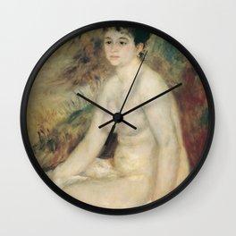 Auguste Renoir - After The Bath 1876 Wall Clock
