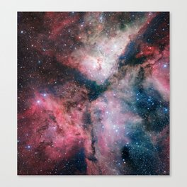The spectacular star-forming Carina Nebula by the ESO VLT Survey Telescope Canvas Print