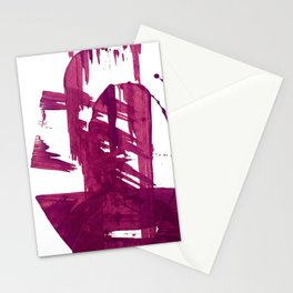 Cranberry brushstroke [1]: a bold, simple, abstract piece in purple Stationery Cards