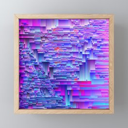 Squiffy Glitches - An Abstract Framed Mini Art Print