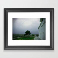 Sadhus on a hill Framed Art Print