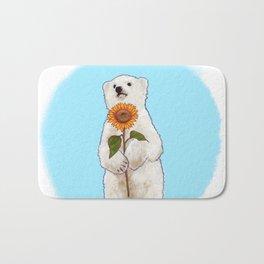 Romantic Bear Cub Bath Mat