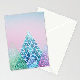Geometric Christmas Trees Stationery Cards