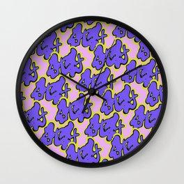Stay Graffiti Pattern - Purple Groove Wall Clock