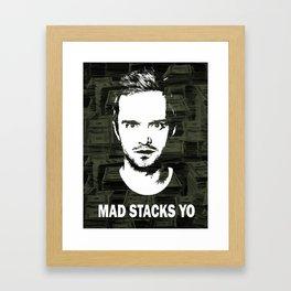 "Jesse Pinkman ""Mad Stacks Yo"" Framed Art Print"