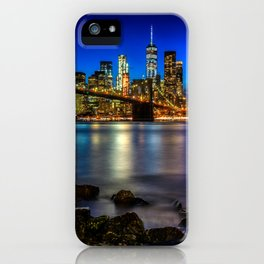 Manhattan Skyline and Brooklyn Bridge iPhone Case