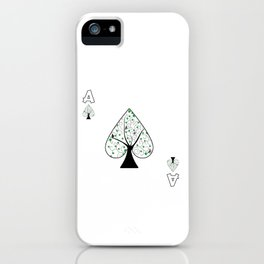Ace, poker, casino, tree, card game gift iPhone Case